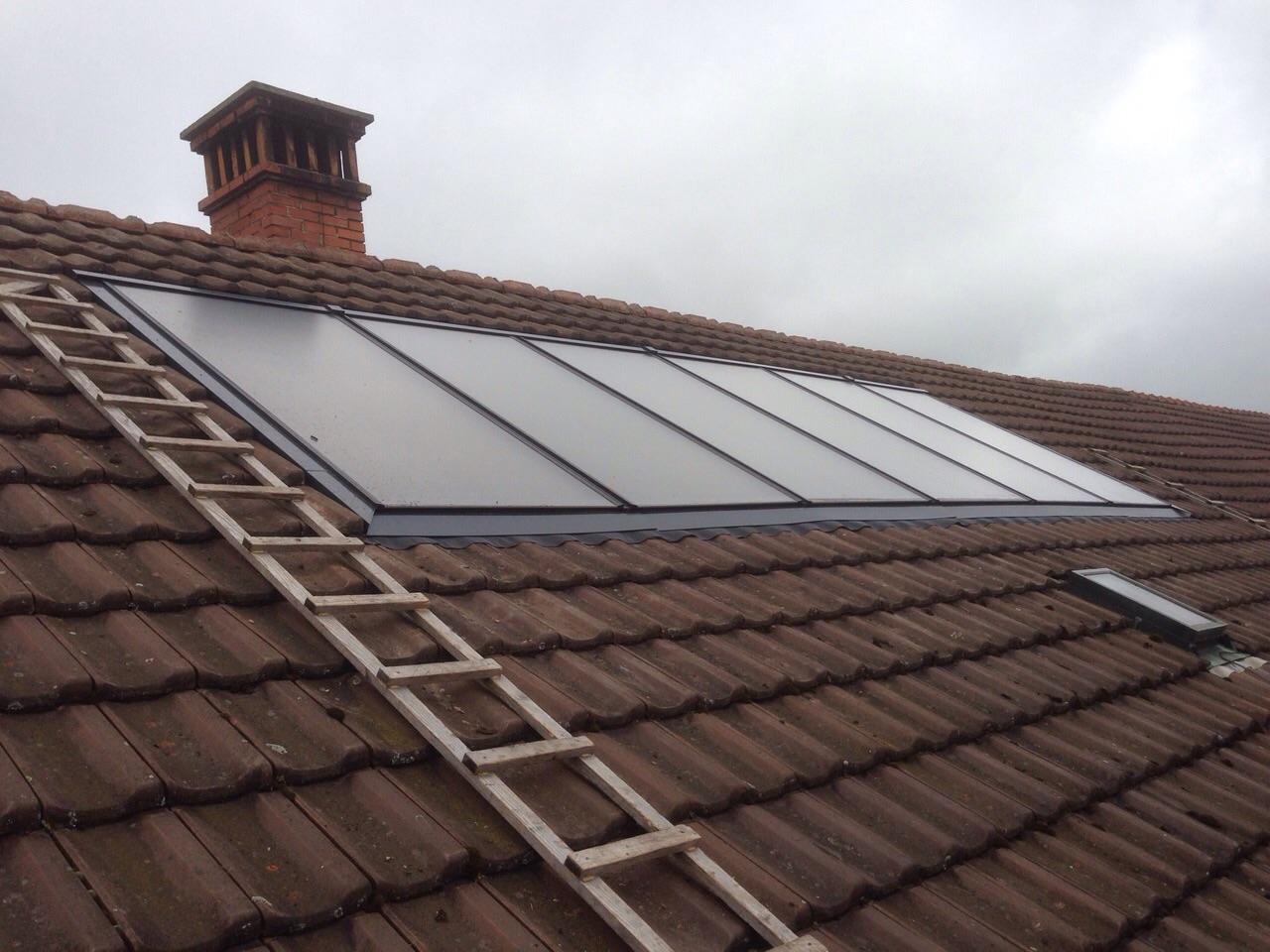 Einbau Solaranlage in bestehendes MFH in Ossingen