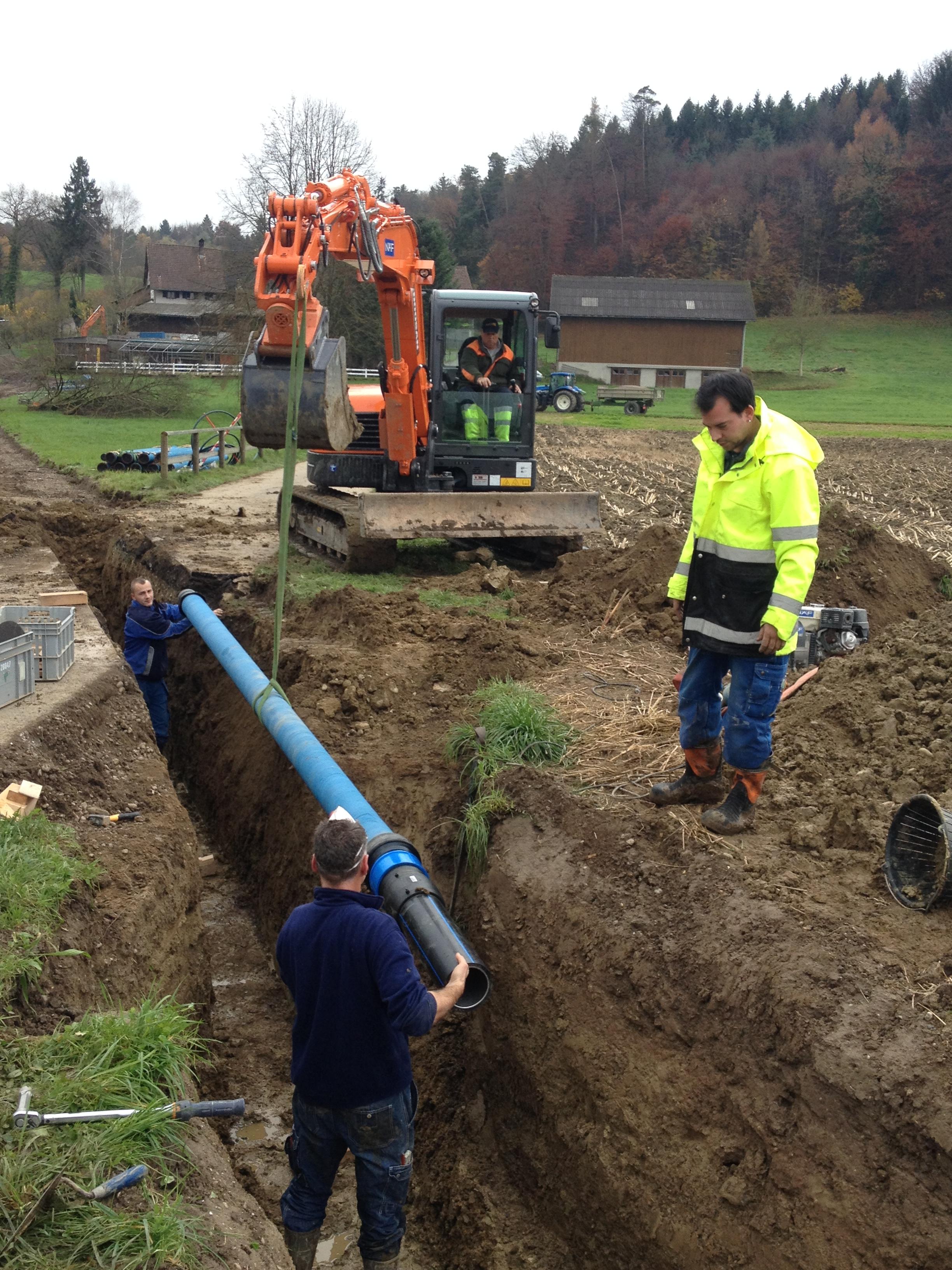Teilsanierung Wasserversorgung Dinhard